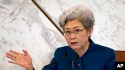 中国全国人大发言人傅莹在3月4日的记者会上