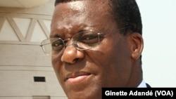 Le ministre d'État Pascal Irénée Koupaki du Bénin, 22 mars 2017. (VOA/Ginette Adandé)