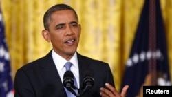 Barack Obama lors de son point de presse vendredi à la Maison-Blanche
