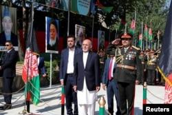 Afghan President Ashraf Ghani attends Afghan Independence Day celebrations in Kabul, Afghanistan, Aug. 19, 2019.