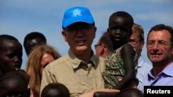 联合国秘书长潘基文5月6日访问南苏丹