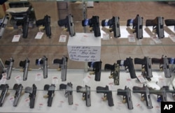 FILE - The Supreme Court ruled in 2008 that Americans have a constitutional right to keep guns in their homes for self-defense.