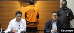 Plt Juru bicara Komisi Pemberantasan Korupsi (KPK) bidang Penindakan Ali Fikri (kanan). (Foto: KPK)