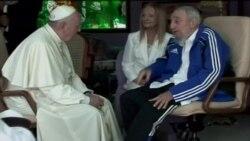 El encuentro entre el papa y Fidel