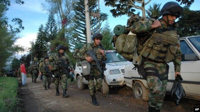 Las Fuerzas Militares continuarán las operaciones contra el terrorismo y el narcotráfico en las zonas de influencia de las FARC.