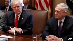 Президент США Дональд Трамп и министр обороны США Джим Мэттис