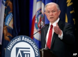 Attorney General Jeff Sessions speaks at the National Association of Attorneys General annual winter meeting, Feb. 28, 2017, in Washington.