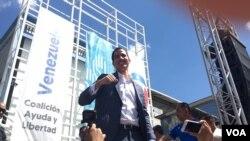 L'opposant Juan Guaido, 35 ans, qui s'est auto-proclamé président du Vénézuela.