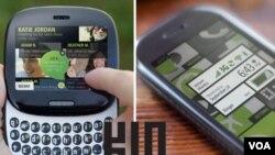El KIN One es pequeño y apto para usar con una sola mano, mientras que el KIN Two tiene una pantalla más grande y mejor cámara.
