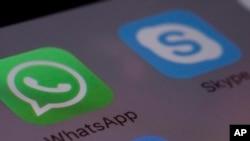 Logo Aplikasi WhatsApp dan Skype. (Foto:Ilustrasi)