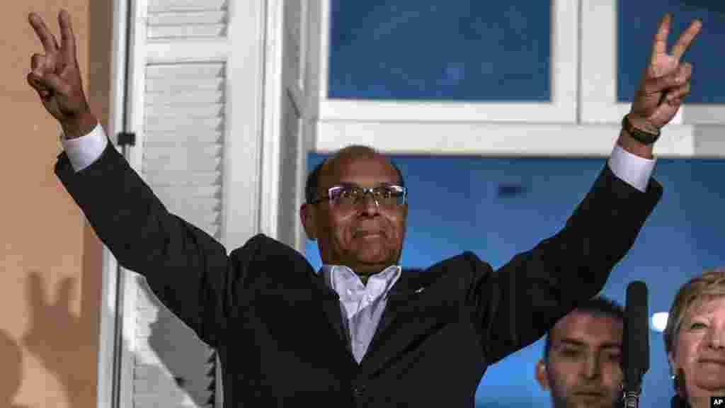 Dan takarar shugaban kasa Moncef Marzouki a Tunis, Disamba 21, 2014.