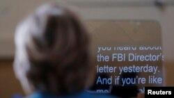 Хиллари Клинтон говорит о расследовании ФБР во время предвыборного митинга в городе Дейтона-Бич, Флорида, 29 октября 2016.