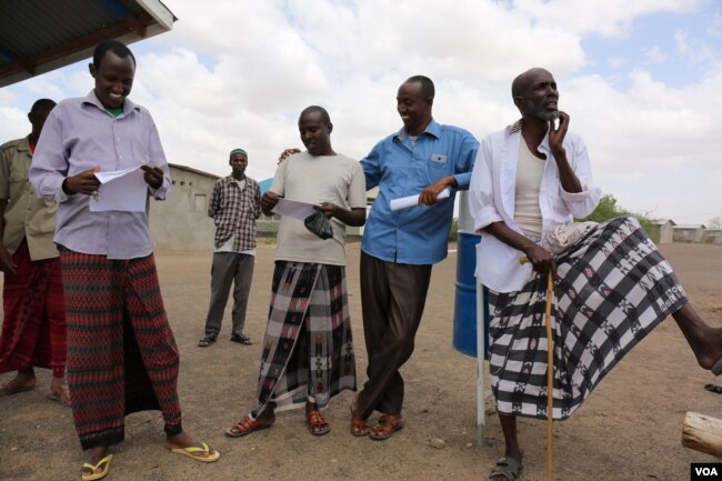 Somali Ahmed Omar Bihi And Fellow Refugees In Kaa Refugee Camp Check To See What Names