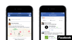 Facebook launches a new service called Recommendations, which allows users to order food and buy tickets. (Facebook)