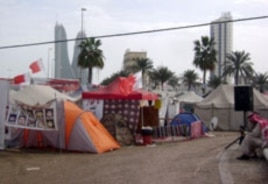 Part of the Pearl Roundabout tent city, March 12, 2011