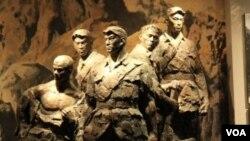 北京卢沟桥旁抗日战争纪念馆中狼牙山五壮士的雕像