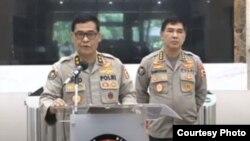 Kepala Divisi Humas Polri Argo Yuwono saat menggelar konferensi pers online pada Selasa, 2 Juni 2020. (Foto: Courtesy)