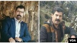 مختار اسدی فعال صنفی معلمان(راست) و محمدی لباف از دراویش گنابادی