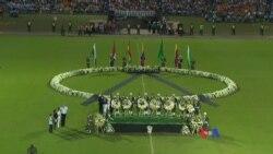 巴西、哥倫比亞球迷悼念飛機失事死難者