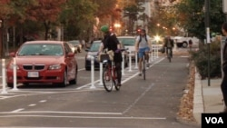 Bicycle commuters in Washington, DC.