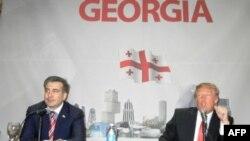 Михаил Саакашвили и Дональд Трамп