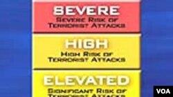 Peringatan ancaman teror di AS dengan kode warna yang diberlakukan setelah terjadinya serangan teroris 11 September 2011.