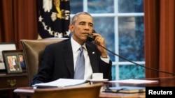 Başkan Barack Obama, Cumhurbaşkanı Recep Tayyip Erdoğan'la IŞİD'le mücadele konusunda bir telefon görüşmesi yaptı.