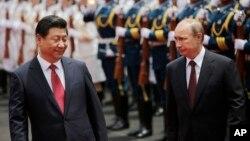 Kineski i ruski predsednici, Ši Đinpinig i Vladimir Putin, Šangaj, Kina 20. maj 2014.