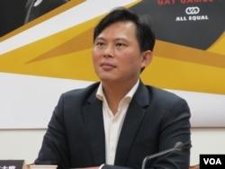 台湾在野党时代力量立委黄国昌 (美国之音张永泰拍摄)