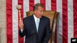 FILE: House Speaker John Boehner of Ohio seen during the opening session of the 114th Congress in Washington, Jan. 6, 2015.
