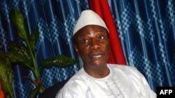 FILE - Guinea's President Alpha Condé.