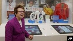 Mantan petenis AS Billie Jean King, salah satu atlet yang terbuka dengan homoseksualitasnya yang dipilih Barack Obama sebagai anggota delegasi Olimpiade Sochi. (Foto: Dok)