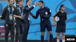 علیرضا فغانی، داور ایرانی، در چند بازی جام جهانی به عنوان داور چهارم حضور داشت