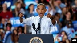 Barack Obama, Capital University, Columbus, Ohio, le 1er novembre 2016.