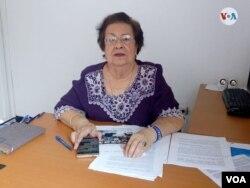 Doctora Vilma Núñez de Escorcia, Presidenta del Centro Nicaragüense de Derechos Humanos. [Foto: Daliana Ocaña/VOA].