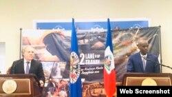 Rankont Prezidan ayisyen an, Jovenel Moise ak Sekretè jeneral OEA, Luis Almagro nan Palè Nasyonal. Foto: Kont Twitter Prezidan Jovenel Moise.