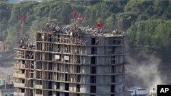 북한 평양의 아파트 건설현장(자료사진)
