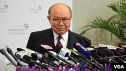 香港特首候選人胡國興 (VOA湯惠芸攝)