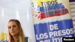 Lilian Tintori, esposa del encarcelado líder opositor Leopoldo López, ha abogado por la libertad de todos los presos por motivos políticos en Venezuela.