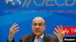 FILE - Angel Gurria, secretary-general of the Organization for Economic Co-operation and Development (OECD), July 19, 2013.