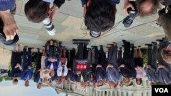 مایک پمپئو وزیر خارجه قبلی آمریکا در کنفرانس خبری کمیته مطالعاتی جمهوریخواهان، روز چهارشنبه در مقابل کنگره