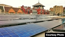 Solar energy is powering the Rockville library in Montgomery County, Maryland. (Photo Courtesy of Montgomery County government)