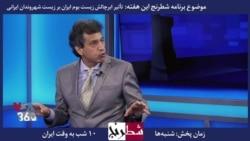 بخشی از برنامه شطرنج –حسام نوذری: از سوی طبیعت هیچ بحرانی در ایران ایجاد نشده است