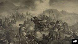 卡斯特将军与印第安人的战斗