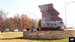 El sargento Ángel M. Sánchez compareció en Fort Leonard Wood a una audiencia preliminar.