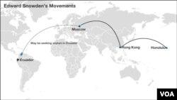 Edward Snowden's trail