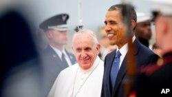 El papa Francisco con el presidente Barack Obama. No solo viene a hablar, sino también a aprender.