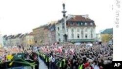 10만명 폴란드 카친스키 대통령 사망 애도