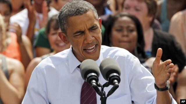 President Barack Obama speaks in Norfolk, Virginia, September 4, 2012.