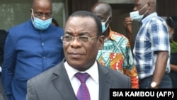 Pascal Affi N'Guessan, atual Presidente e antigo primeiro-ministro da Costa do Marfim, é candidato às presidenciais de 31 de outubro. Abidjan, 15 de outubro 2020